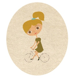 Blond girl vector