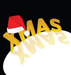 red hat with xmas word vector image