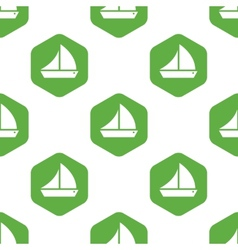 Sailing ship pattern vector