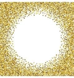 Round glitter gold frame vector image