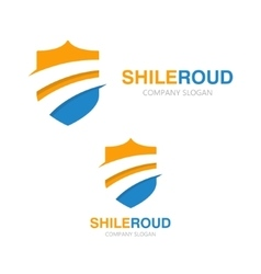 Road and shield logo concept vector