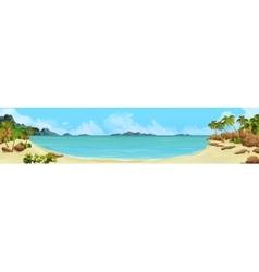 Bay tropical beach vector image