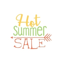 Hot summer sale colorful ad vector