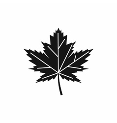 Maple leaf icon simple style vector