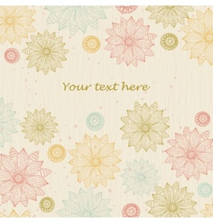 Beautiful floral background for text vector image vector image