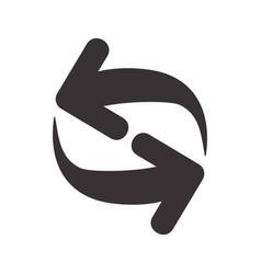 Black symbols of arrows icos design vector