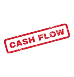 Cash flow text rubber stamp vector