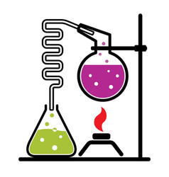 chemical experiment set vector image vector image