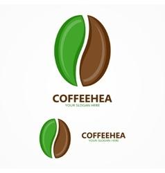 coffee beans logo vector image