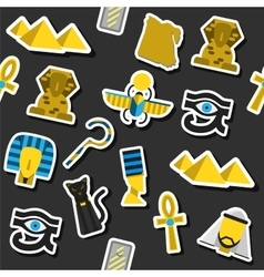 Collage of flat design Egypt vector image