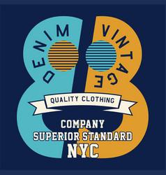 Denim vintage quality vector