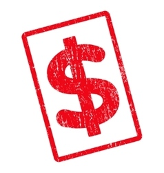 Dollar Icon Rubber Stamp vector image