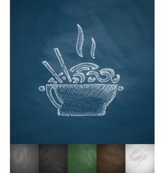 Food icon hand drawn vector