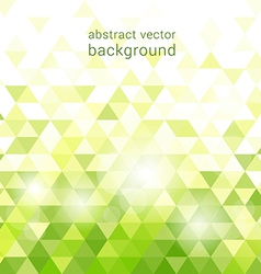 green background with abstract geometric vector image vector image