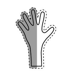 Huma hand silhouette vector image