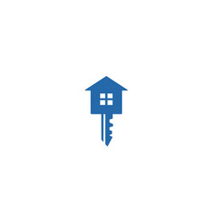 key with house house key iconlogo icon design vector image