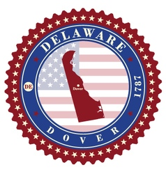 Label sticker cards of state delaware usa vector
