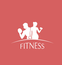 logotype fitness club vector image