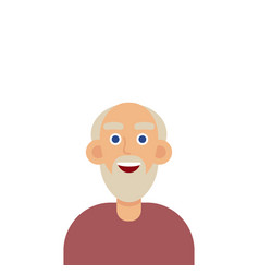 man face emotive icon old man in glasses with vector image vector image