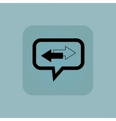 Pale blue opposite message icon vector