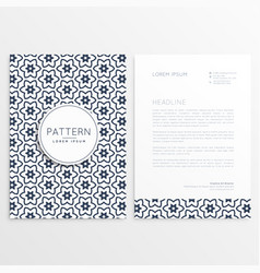 pattern corporate brochure template vector image vector image