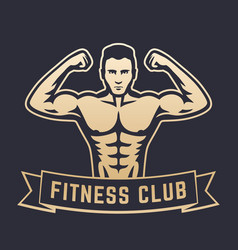posing athlete strong bodybuilder man showing his vector image vector image