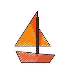 Sail boat symbol vector