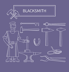 Set of the blacksmith vector