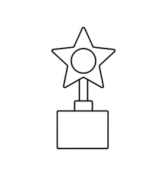 Star award line icon vector
