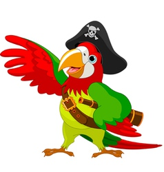 Talking pirate parrot vector
