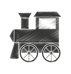 Train baby toy icon vector