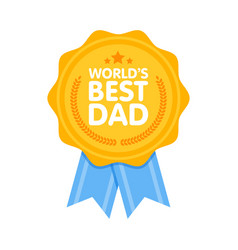 World best dad badge award vector