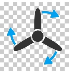 Three bladed screw rotation icon vector