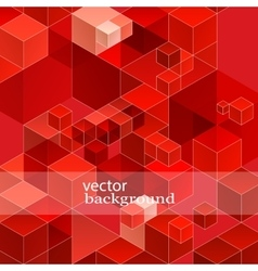 Retro red geometric pattern for modern hipster vector image