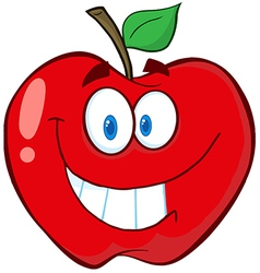 Apple cartoon mascot character vector