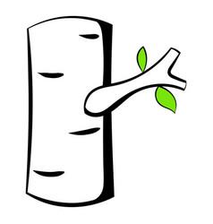 birch icon cartoon vector image