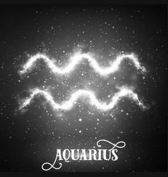 Abstract zodiac sign aquarius on a vector