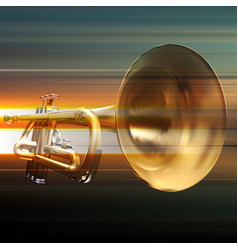 Abstract grunge background with trumpet vector