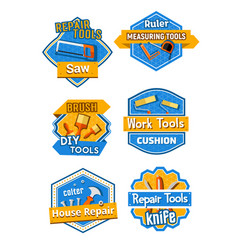 Icons of home construction and repair tools vector