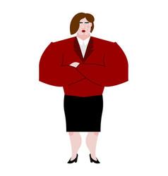 Woman boss female bank businesswoman in suit vector