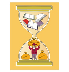 Time and books vector