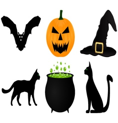 Icon set for halloween vector