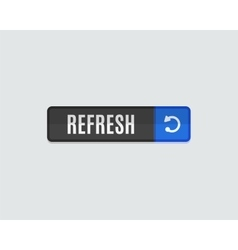 Refresh web button flat modern design vector image