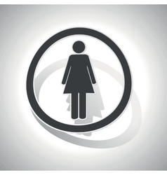 Curved woman sign icon vector