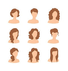 Different hair style for woman vector