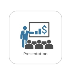 Presentation icon business concept flat design vector