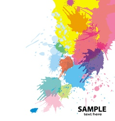 paint splatter background vector image