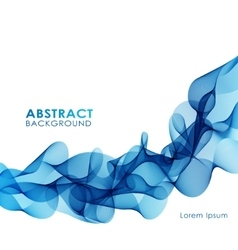 Blue wavy abstract background vector