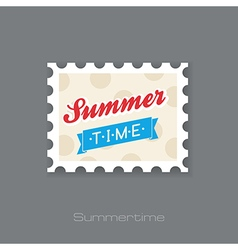 Summertime stamp vacation summer vector