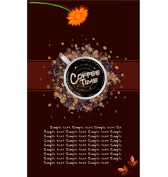 A Coffee Menu Template on Brown Background vector image